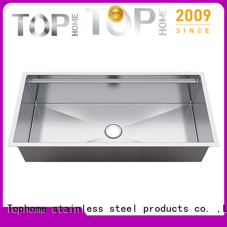 Top Home handmade stainless steel undermount sink easy cleanning for cooking