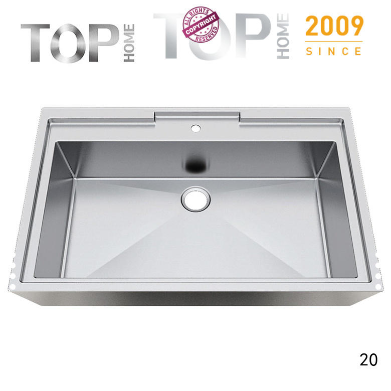 Top Home apbr4227s commercial stainless steel bathroom sinks corner for Lavatory