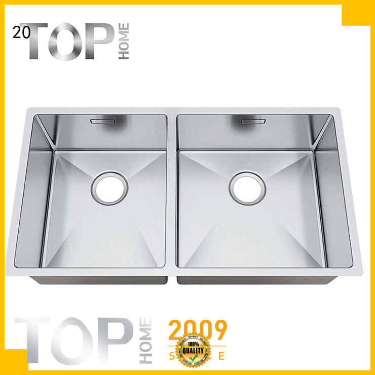 Top Home double stainless steel kitchen sink durability outdoor countertop