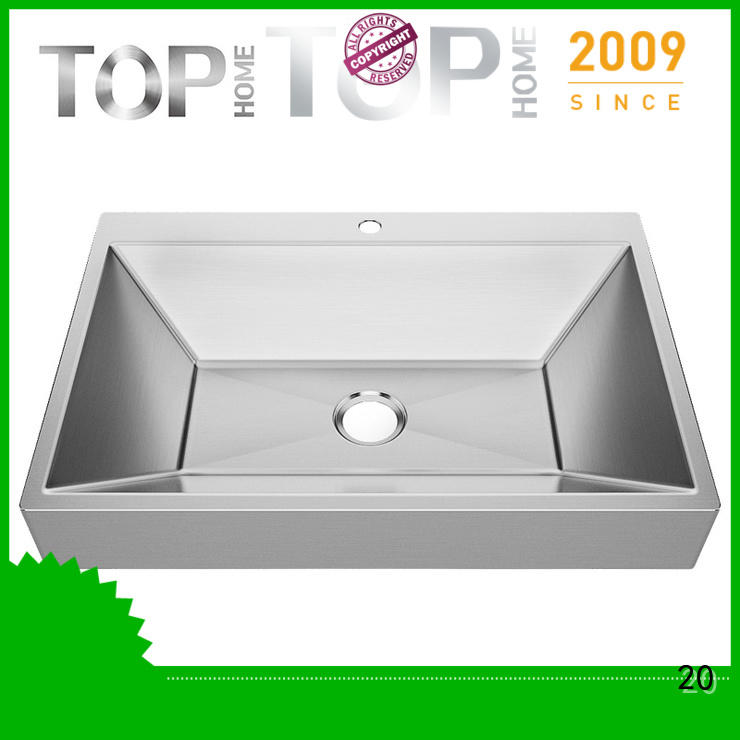Top Home finish 1618g stainless steel undermount bathroom sink corner for Lavatory