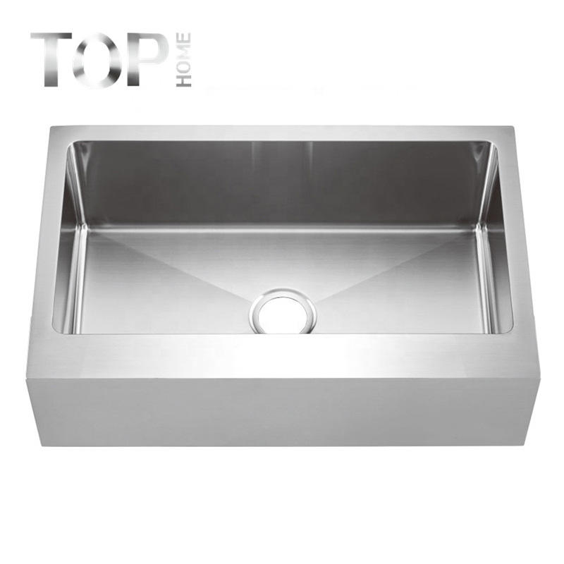 THAPR3320C Handcrafted All-in-One Apron-Front Stainless Steel Double Bowl Kitchen Farmhouses Sink