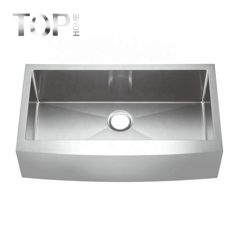 THAPR3620C Handcrafted 16/18G Stainless Steel above Counter Single bowl Kitchen Apron Sink