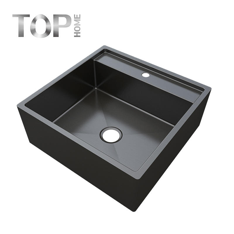 APBR2020S Workstation Ledge Top mount 16 Gauge Stainless Steel Kitchen Sink Single Bowl
