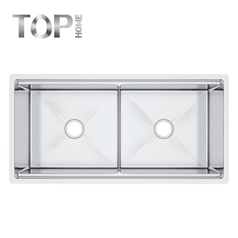 LDR4020A 16 Gauge Under mount Double Bowl Stainless Steel Kitchen Sink With CUPC Certification