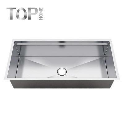 LDR4620C 16 Gauge 10 Inch Deep Brushed Drop In Single Under mount Single Bowl Stainless Steel Kitchen Sink,