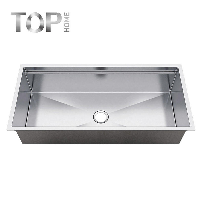 LDR4620C 16 Gauge 10 Inch Deep Brushed Drop In Single Under mount Single Bowl Stainless Steel Kitchen Sink,