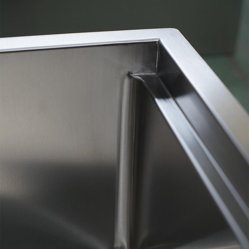 LDR7020BL Radius Handmade 16 Gauge Stainless Steel under mount Modern Kitchen Sink