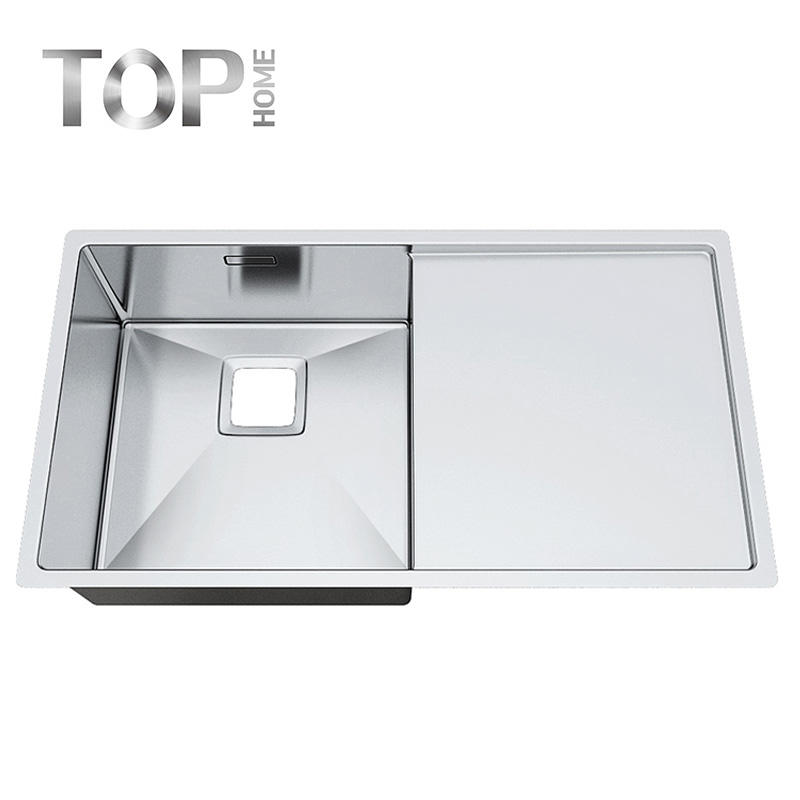 P8044S Kitchen top mount Stainless Steel Sink Handmade sink Single Bowl Square for Kitchen