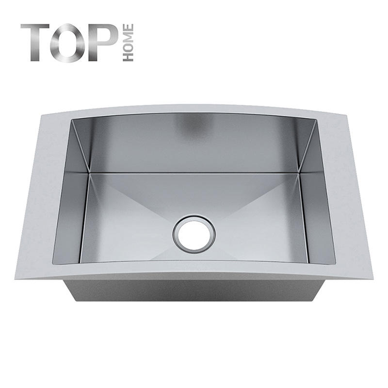 18 Gauge Top mount Drop-in Single Bowl Handmade Stainless Steel Kitchen Sink