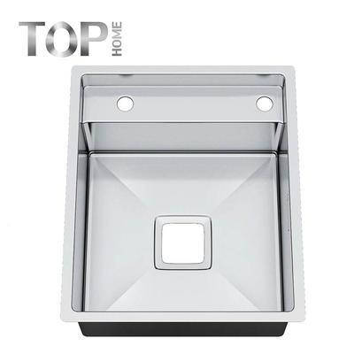 5244S Single Bowl 16/18 Gauge Handmade Stainless Steel Top mount Drop-In Kitchen Sink