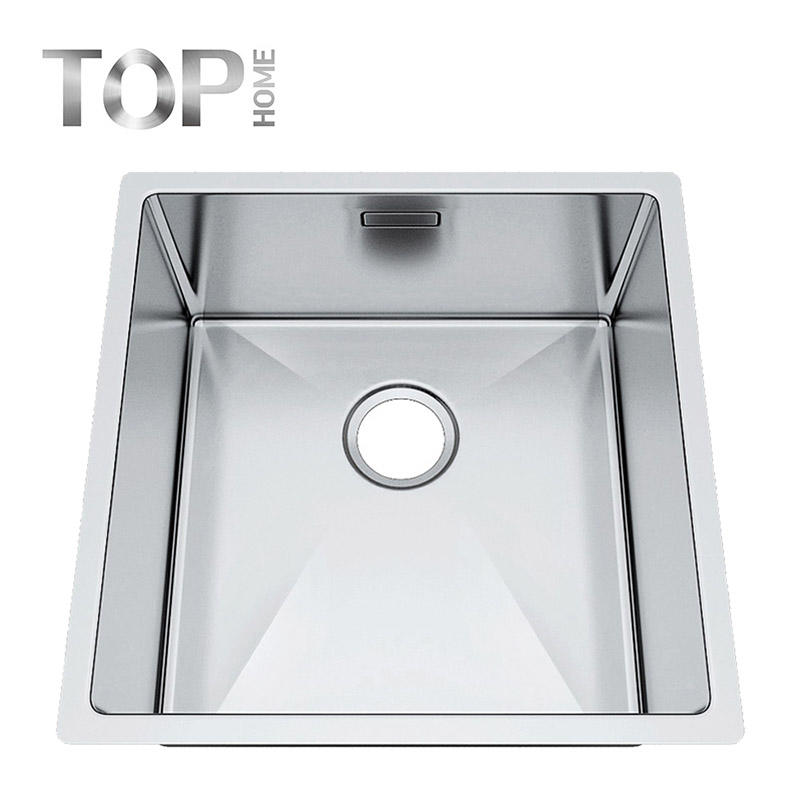 4444S Hot sales stainless steel kitchen single bowl under mount sink with cupc certification