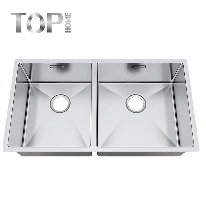 8044BR New products 31 inch double Bowl Stainless Steel Under mount Farmhouse Brushed Kitchen Sinks