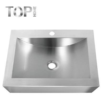 APBR2116 Stainless steel 304 modern design single bowl handmade bathroom sink with CUPC certification