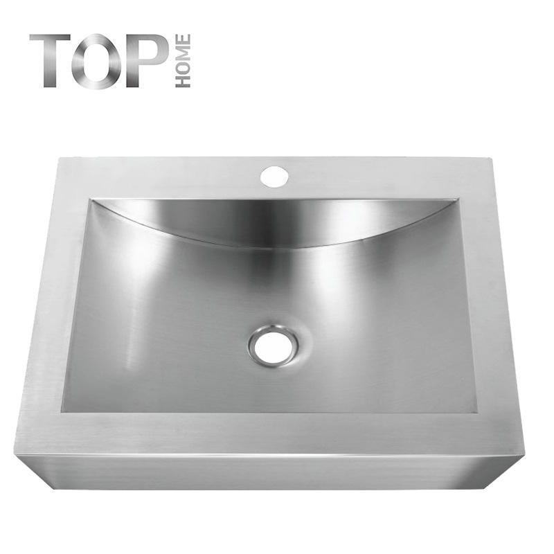 APBR2116 Stainless steel 304 modern design single bowl handmade bathroom sink with CUPC certification