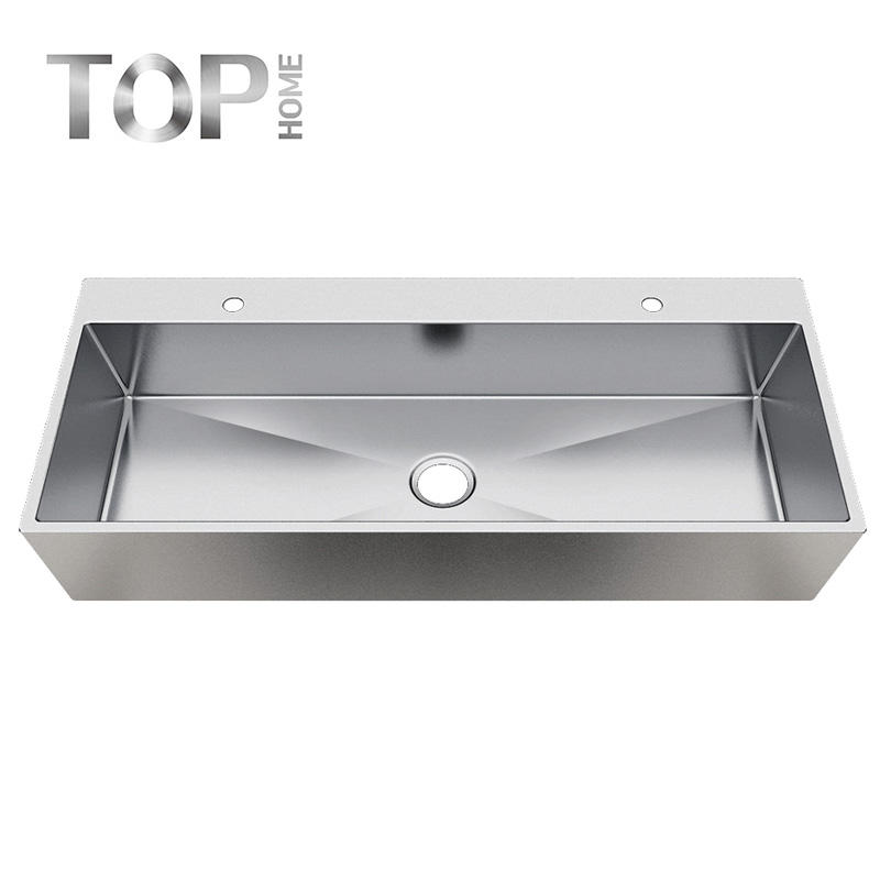 APBR4620S-7 304-Grade Stainless Steel Brushed Finish 16/18G High Quality Bathroom Sink with CUPC certification