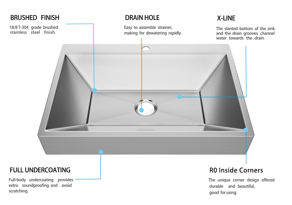 Top Home Modern stylish stainless steel sink corner for Lavatory-6