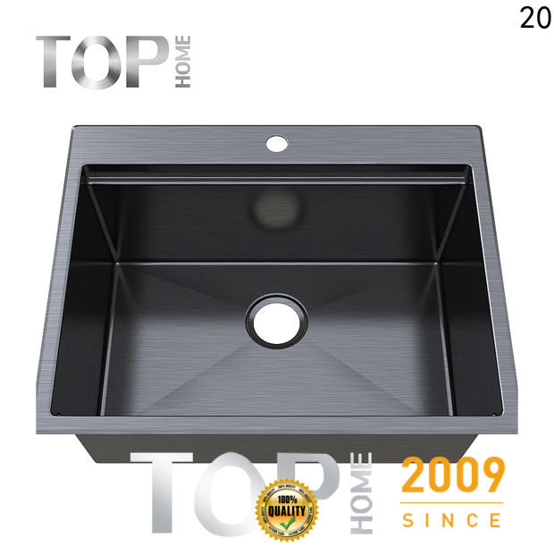 Top Home clips black sink double bowls for farm