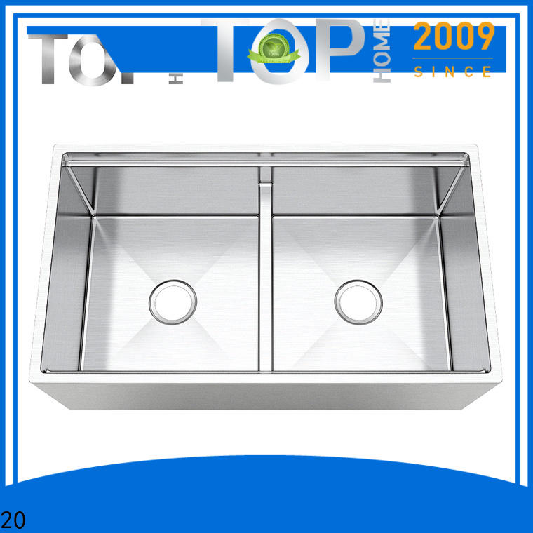 Top Home good quality stainless steel farmhouse sink dewatering rapidly for countertop