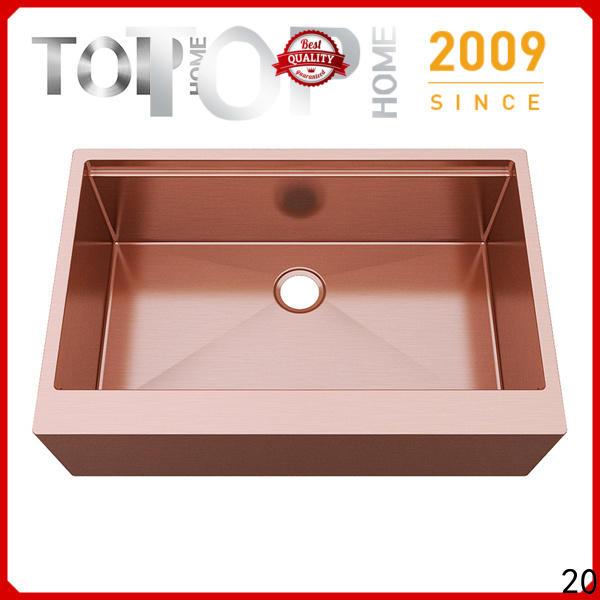 Top Home modern kitchen sink dual mount metal for farm