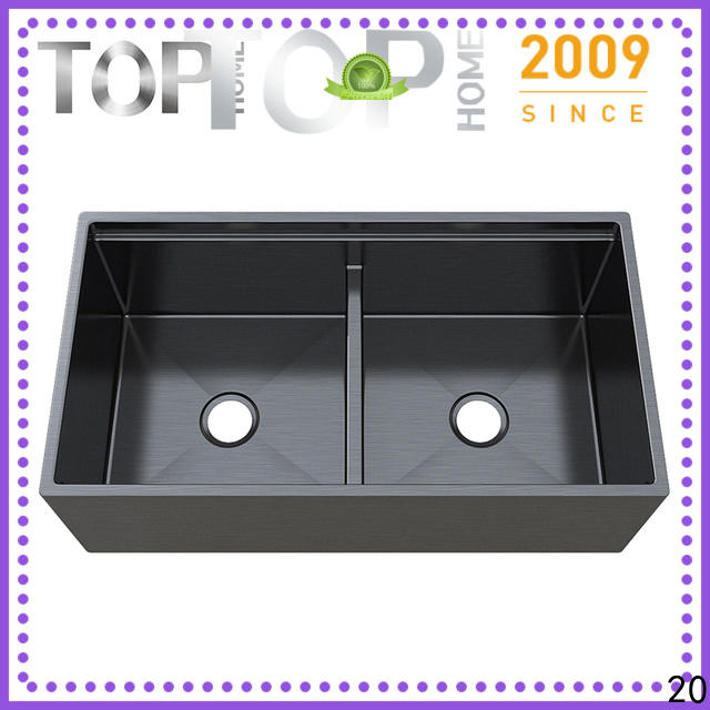Top Home 16 handmade kitchen sink double bowls for farm