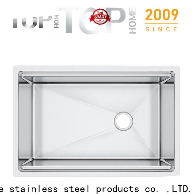 Top Home undermount double bowl kitchen sink for countertop