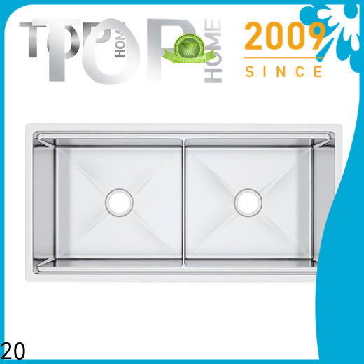 Top Home durable double bowl kitchen sink for countertop