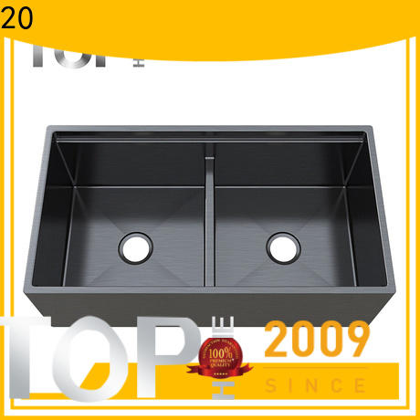 durability black sink mounting double bowls