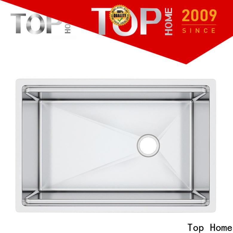 Top Home handmade undermount stainless steel kitchen sink metal for outdoor