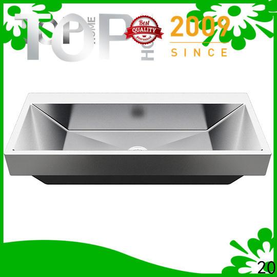 Top Home apbr4227s stainless steel bathroom sink corner for Lavatory