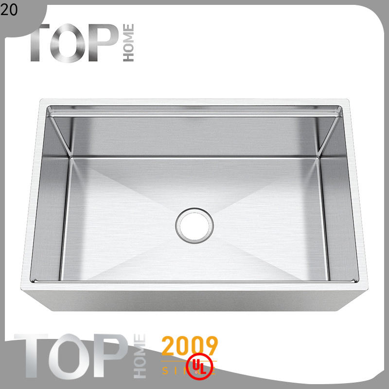 Top Home counter stainless apron sink easy cleanning for countertop