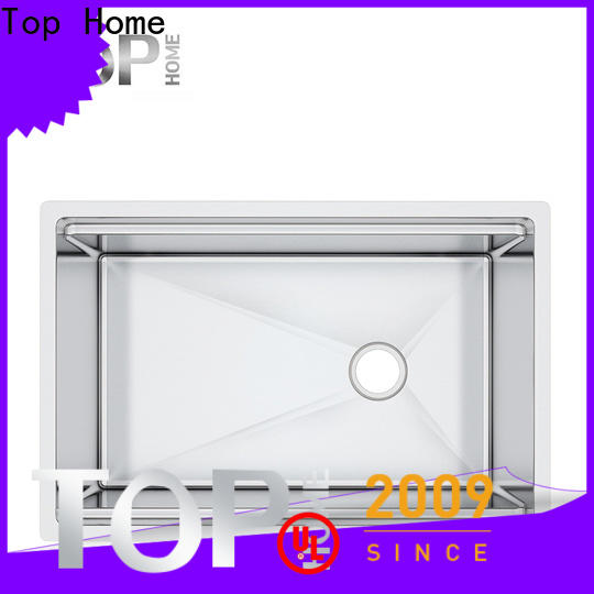 Top Home handmade stainless steel undermount sink for kitchen