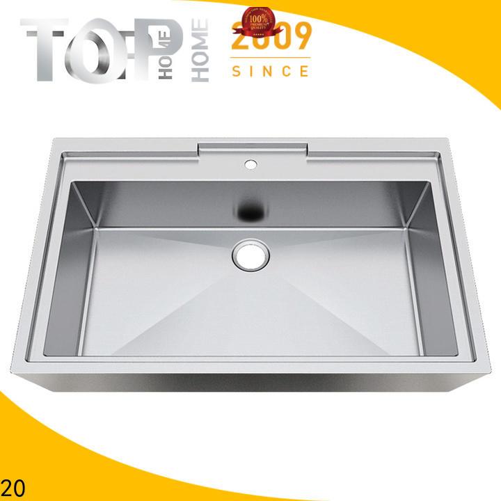 Top Home radius stainless steel bathroom sink corner