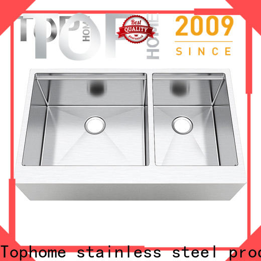 Top Home easy installation stainless steel apron sink durable for cooking