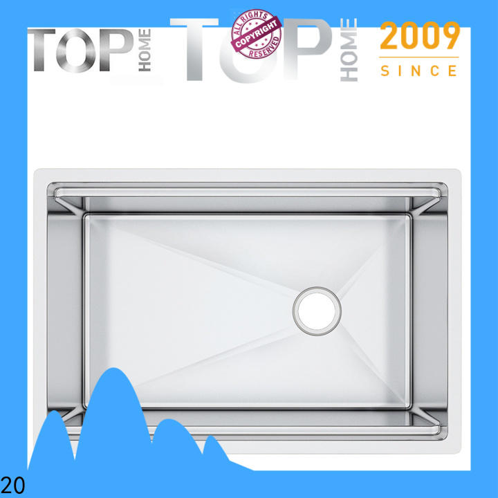Top Home durable double bowl kitchen sink metal for restaurant