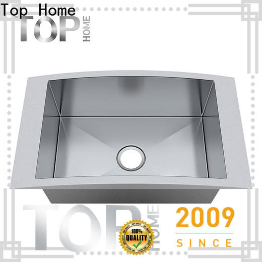 Top Home Double Bowls top mount farmhouse sink easy installation kitchen