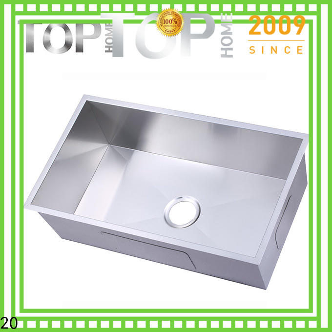 Top Home thra3018a undermount stainless steel kitchen sink durability for cooking
