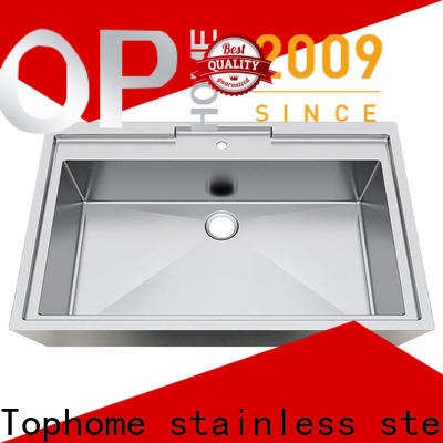 Top Home pedestal stainless steel bathroom sink durability for Lavatory