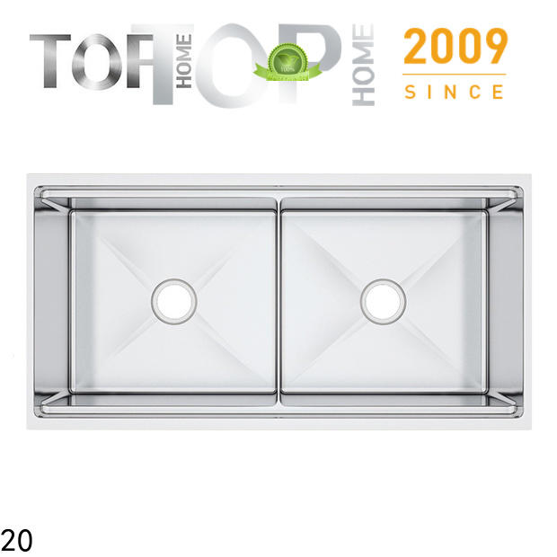 Top Home ldr3219c double bowl kitchen sink wash easily for restaurant
