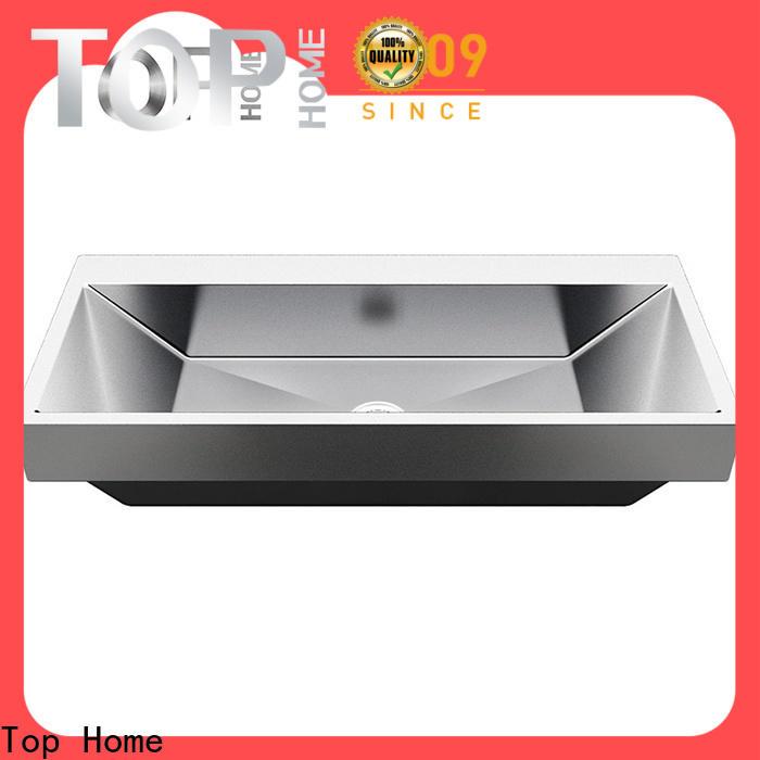 Top Home easy stainless steel undermount bathroom sink basin for washroom