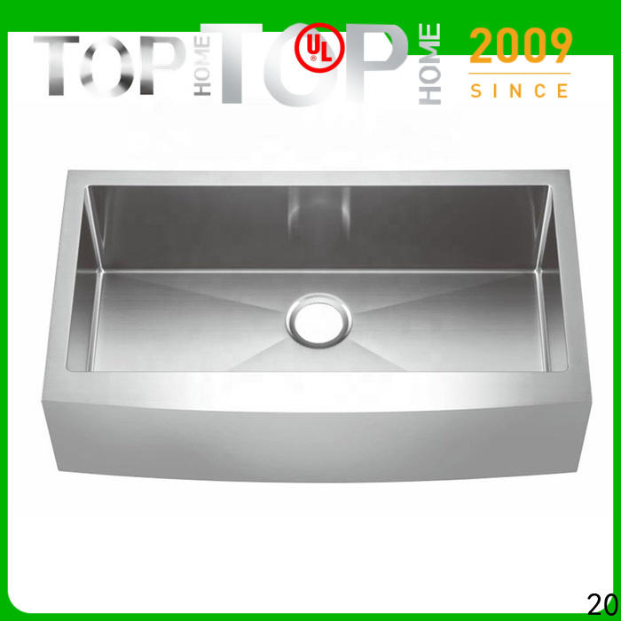 Top Home easy installation stainless steel farmhouse sink durable for restaurant