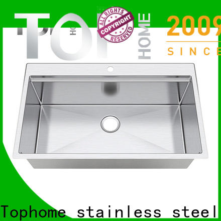 Top Home clean stainless steel under mount sink metal for restaurant