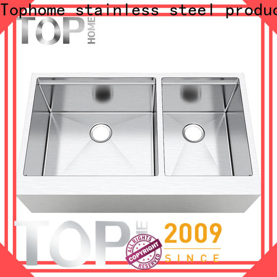 stainless farm sink double easy cleanning for restaurant