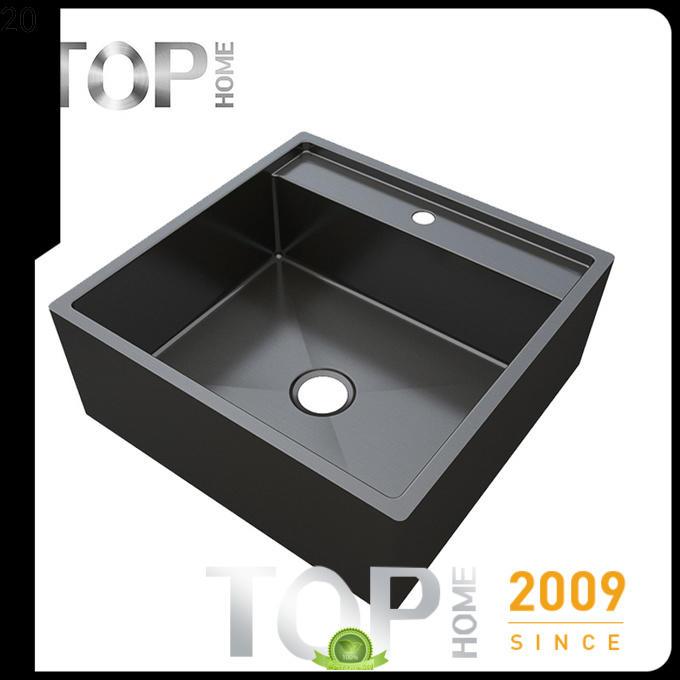 Top Home modern kitchen sink dual mount