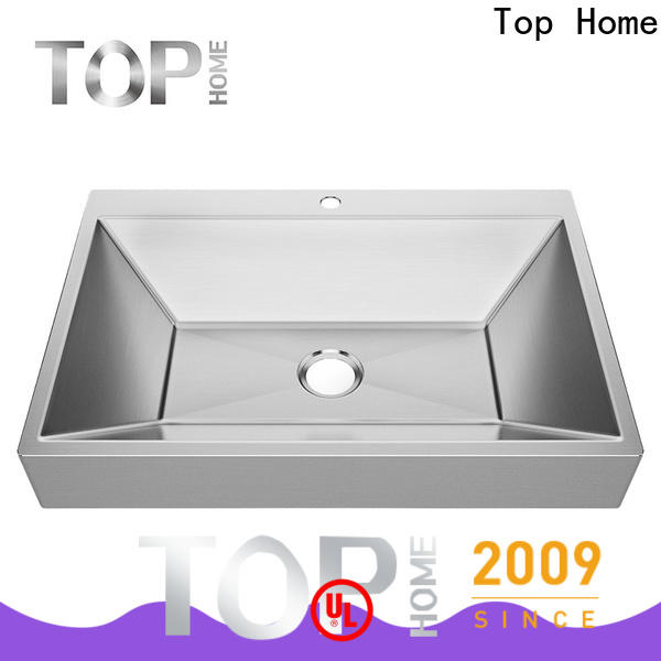 Top Home brushed stainless steel sink basin for bathroom