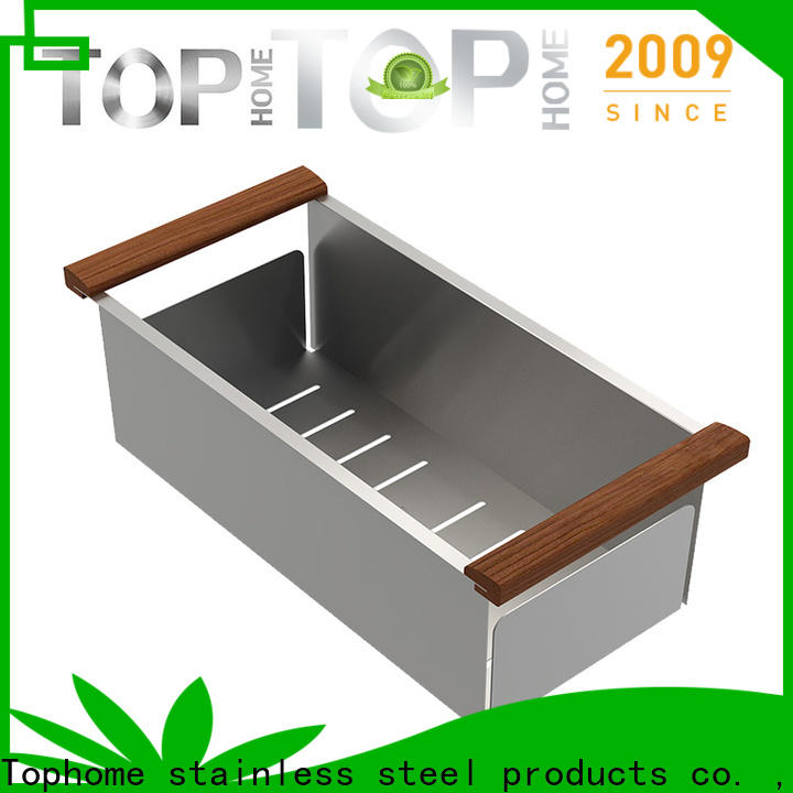 durable stainless steel sink colander sink with handle for kitchen item