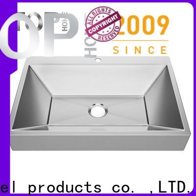 Top Home Modern stylish stainless steel undermount bathroom sink corner