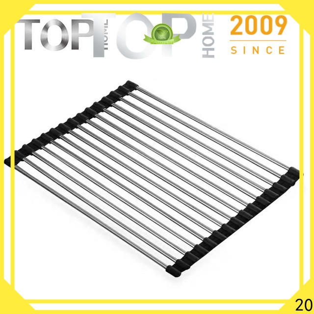 Top Home Stainless steel roll up dish drying rack drying for drying