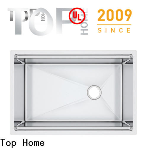 Top Home handmade stainless steel under mount sink wash easily for countertop