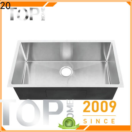 Top Home 304 undermount stainless steel kitchen sink Eco-Friendly outdoor countertop