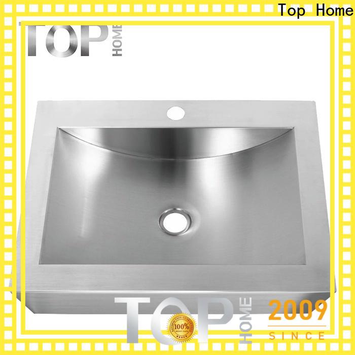 Top Home durable stainless steel bathroom sink durability